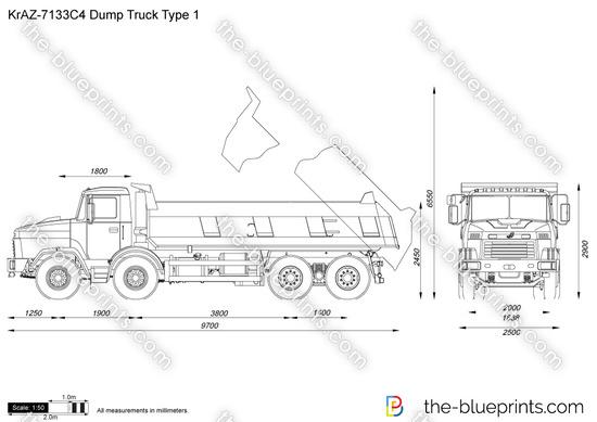 KrAZ-7133C4 Dump Truck Type 1