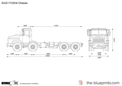 KrAZ-7133H4 Chassis