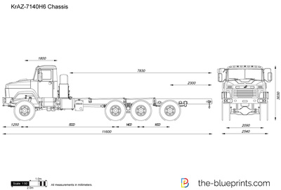 KrAZ-7140H6 Chassis