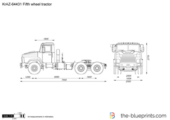 KrAZ-64431 Fifth wheel tractor