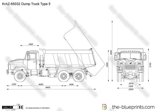KrAZ-65032 Dump Truck Type 5