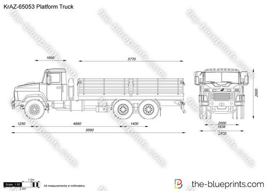 KrAZ-65053 Platform Truck