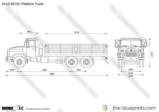 KrAZ-65101 Platform Truck
