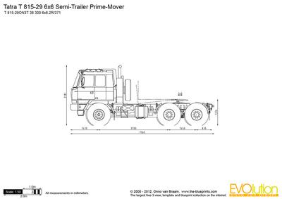 Tatra T 815-29 6x6 Semi-Trailer Prime-Mover