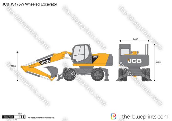 JCB JS175W Wheeled Excavator