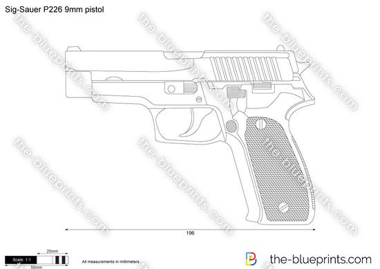 Sig-Sauer P226 9mm pistol