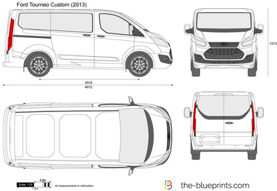 ford tourneo custom swb vector drawing. Black Bedroom Furniture Sets. Home Design Ideas