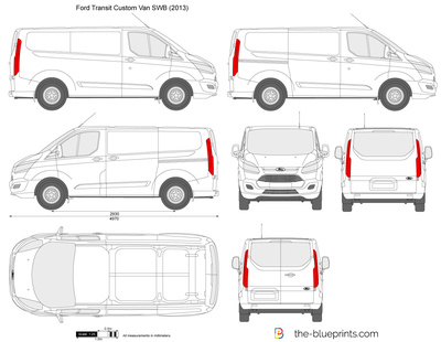 The blueprints vector drawing ford transit custom swb l1h1 ford transit custom swb l1h1 malvernweather