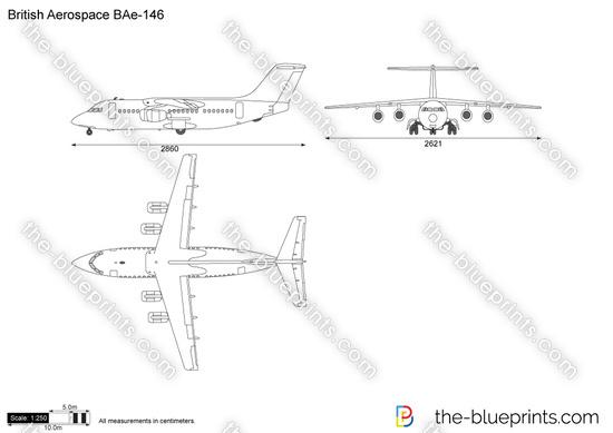British aerospace bae 146 vector drawing british aerospace bae 146 malvernweather Images