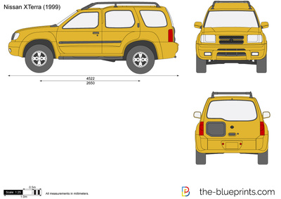 The-Blueprints.com - Vector Drawing - Nissan XTerra N50