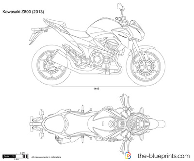 kawasaki z800 vector drawing. Black Bedroom Furniture Sets. Home Design Ideas