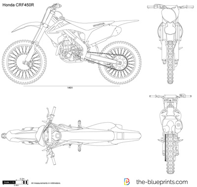 Honda Crf450r Vector Drawing