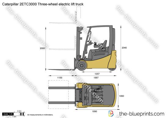 Caterpillar 2ETC3000 Three-wheel electric lift truck