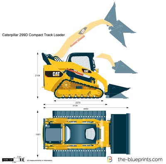 Caterpillar 299D Compact Track Loader
