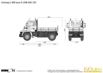 Unimog U 400 euro 5 LWB 405.123