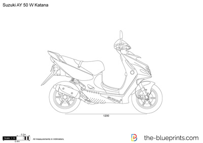 suzuki ay 50 w katana vector drawing. Black Bedroom Furniture Sets. Home Design Ideas