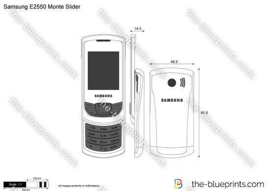Samsung E2550 Monte Slider