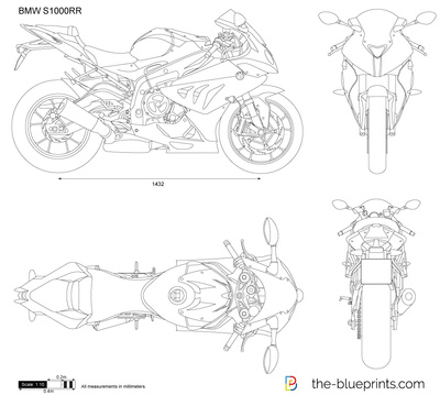 Bmw S1000rr Vector Drawing