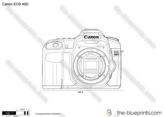 Canon EOS 40D vector drawing