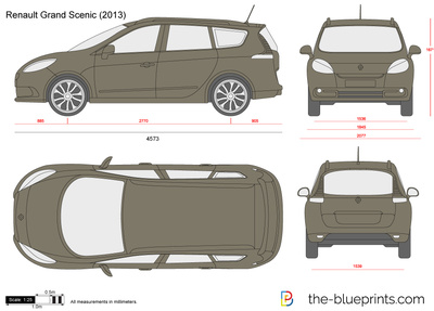 renault grand scenic vector drawing. Black Bedroom Furniture Sets. Home Design Ideas