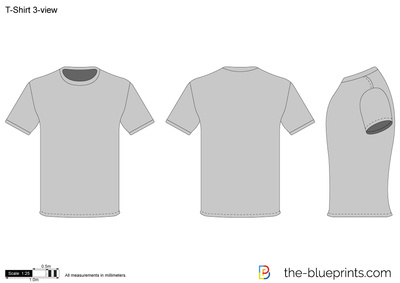 The blueprints vector drawing t shirt 3 view t shirt 3 view malvernweather Choice Image