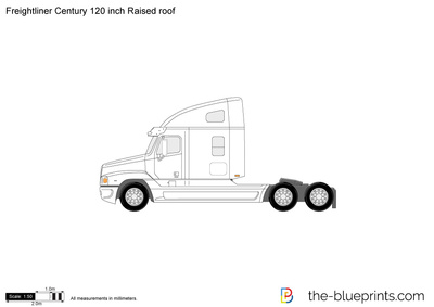 Freightliner Century 120 inch Raised roof