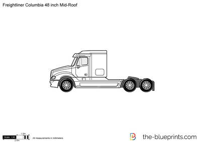 Freightliner Columbia 48 inch Mid-Roof