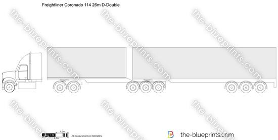 Freightliner Coronado 114 26m D-Double