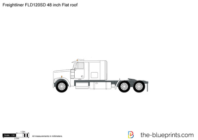Freightliner FLD120SD 48 inch Flat roof