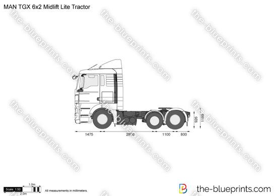 MAN TGX 6x2 Midlift Lite Tractor