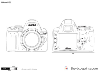 Nikon D60 Vector Drawing
