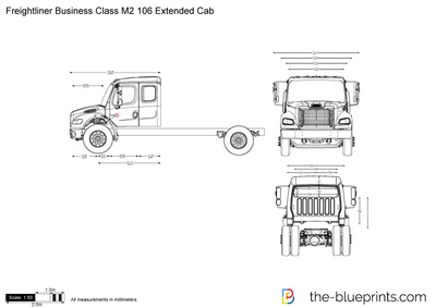 Freightliner Business Class M2 106 Extended Cab vector drawing