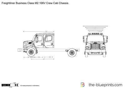 Freightliner Business Class M2 106V Crew Cab Chassis