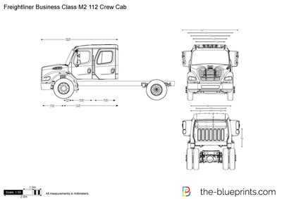 freightliner business class m2 fuse box freightliner business class m2 112 crew cab vector drawing  freightliner business class m2 112 crew