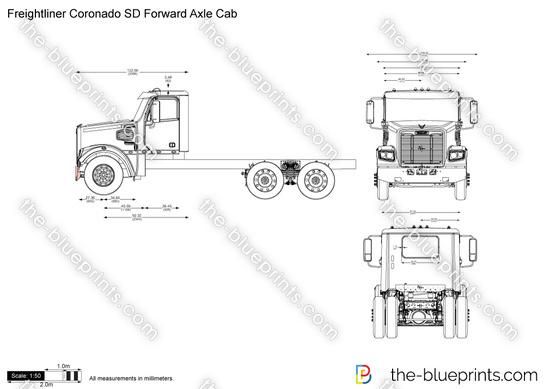 Freightliner Coronado SD Forward Axle Cab