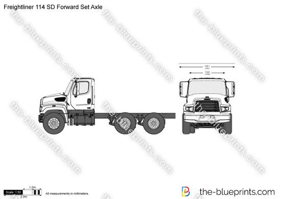 Freightliner 114 SD Forward Set Axle