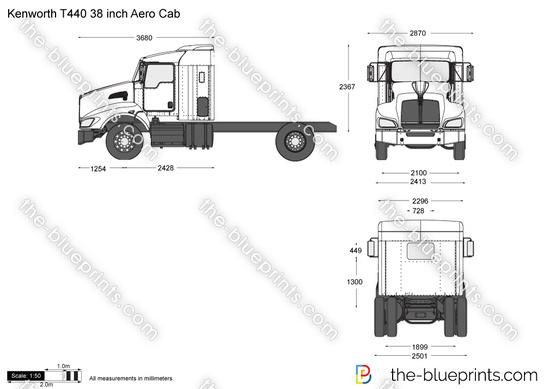 Kenworth T440 38 inch Aero Cab