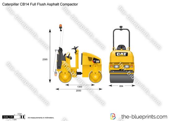 Caterpillar CB14 Full Flush Asphalt Compactor