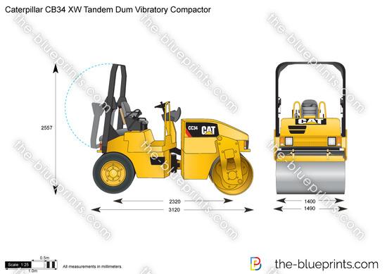 Caterpillar CB34 XW Tandem Dum Vibratory Compactor