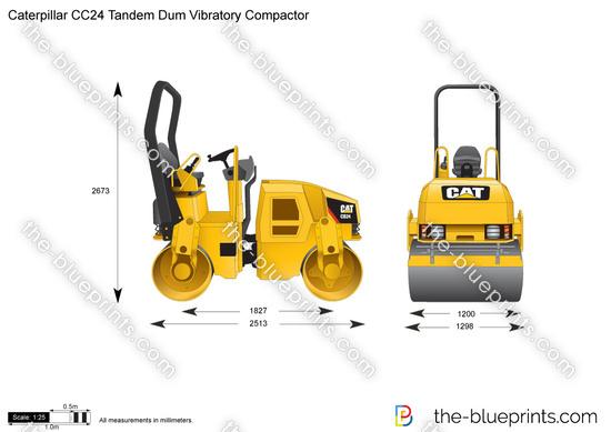 Caterpillar CC24 Tandem Dum Vibratory Compactor