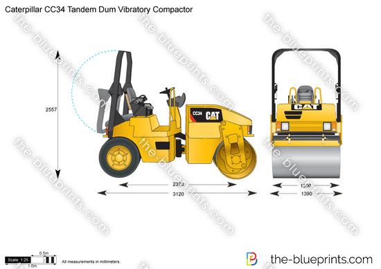 Caterpillar CC34 Tandem Dum Vibratory Compactor