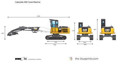 Caterpillar 568 Forest Machine