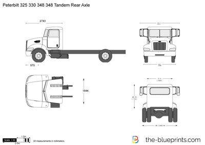 Peterbilt 330 vector drawing