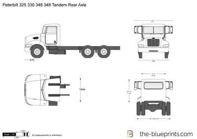 Peterbilt 348 Tandem Rear Axle