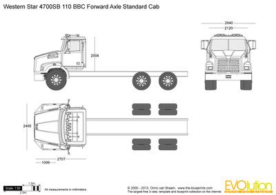 Western Star 4700SB 110 BBC Forward Axle Standard Cab
