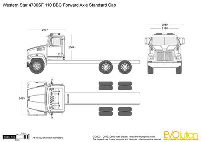Western Star 4700SF 110 BBC Forward Axle Standard Cab