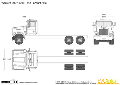 Western Star 4900SF 112 Forward Axle