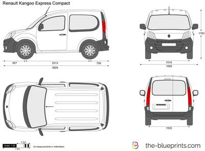 renault kangoo express compact vector drawing. Black Bedroom Furniture Sets. Home Design Ideas