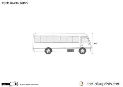 Toyota Coaster Vector Drawing