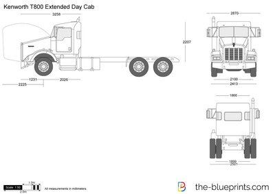 Kenworth T800 Extended Day Cab